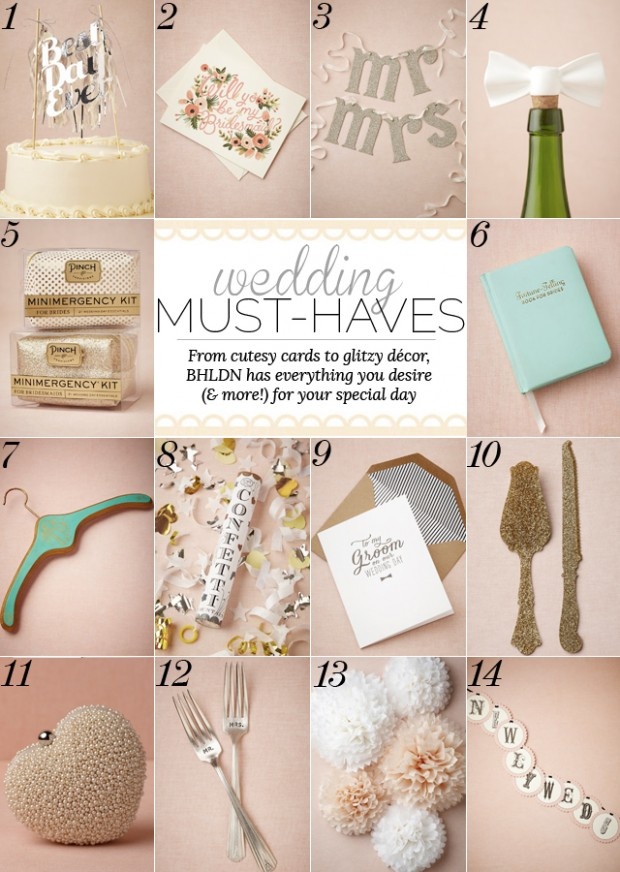 Wedding Must Haves