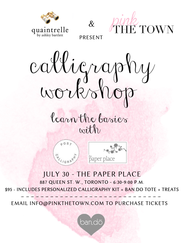 calligraphy workshop - poster size