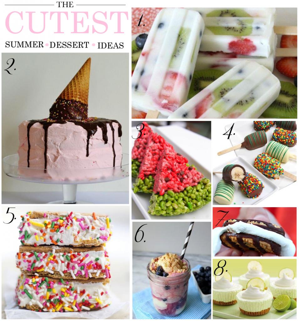 cutest summer dessert ideas