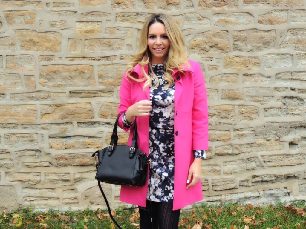 hot pink coat pink the town 13