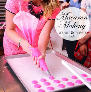 pink the town event pink macarons