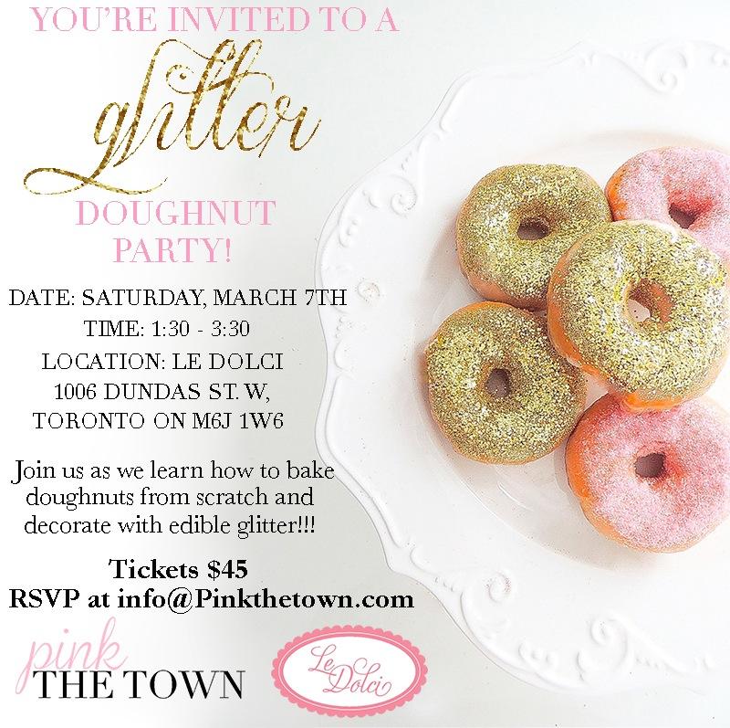 glitter doughnut final invite
