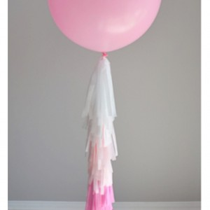 pink balloon tassel garland