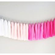pink ombre tissue garland