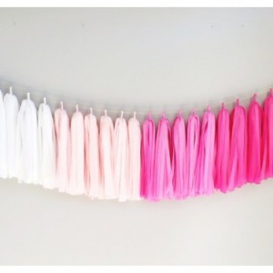 pink ombre tissue garland