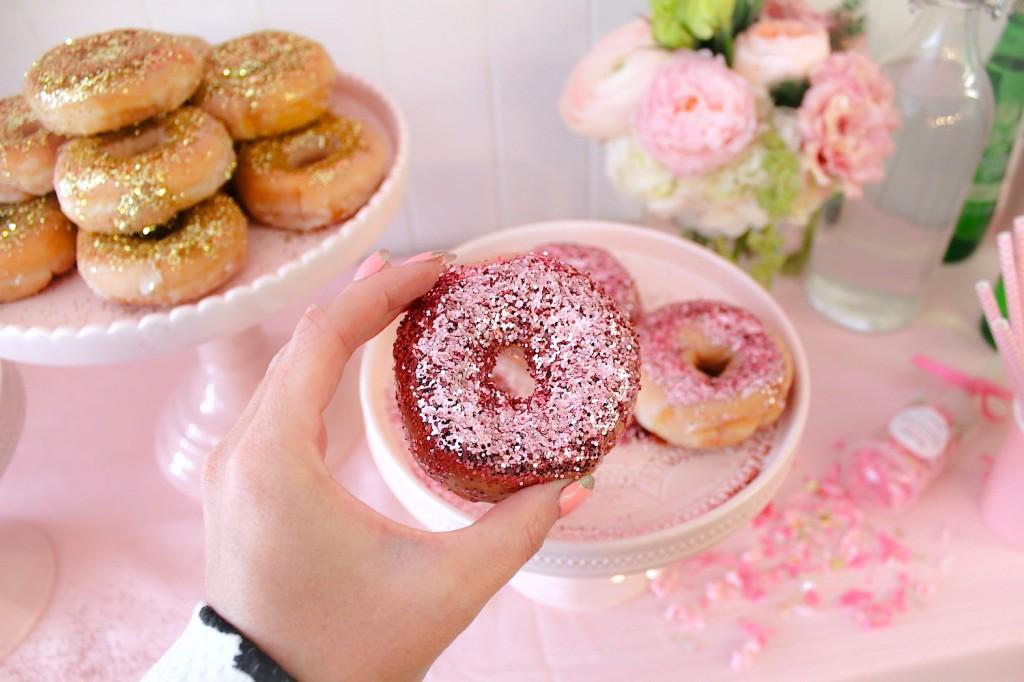 glitter donuts glitter doughnuts pink the town