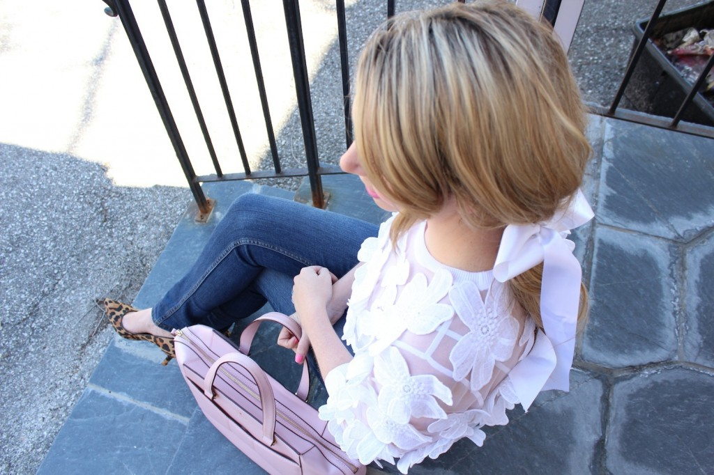 pink the town floral top