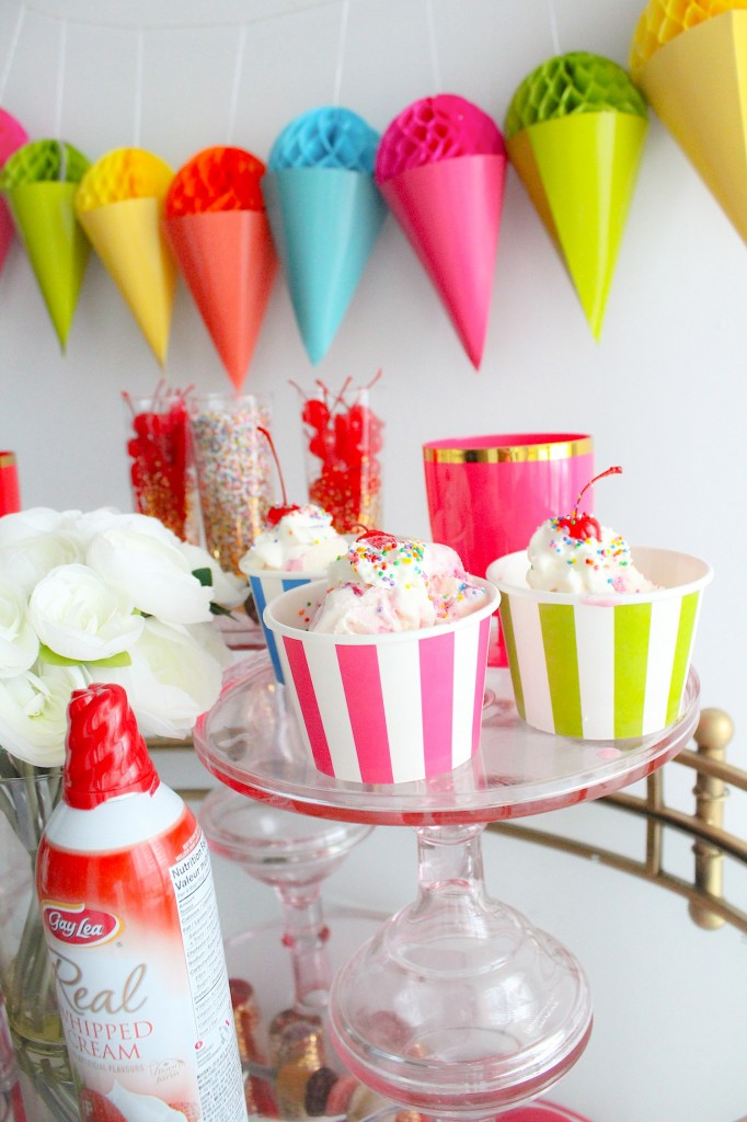 Ice Cream Sundae Bar Party