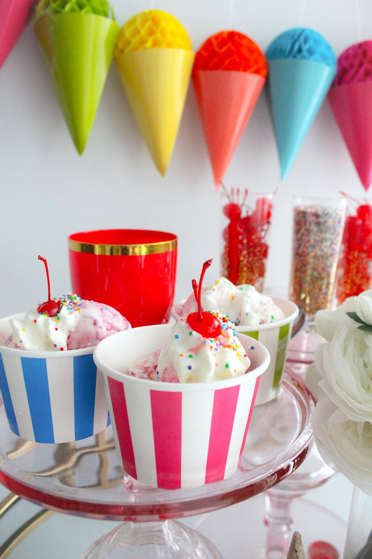 ice cream sundae bar party. Black Bedroom Furniture Sets. Home Design Ideas