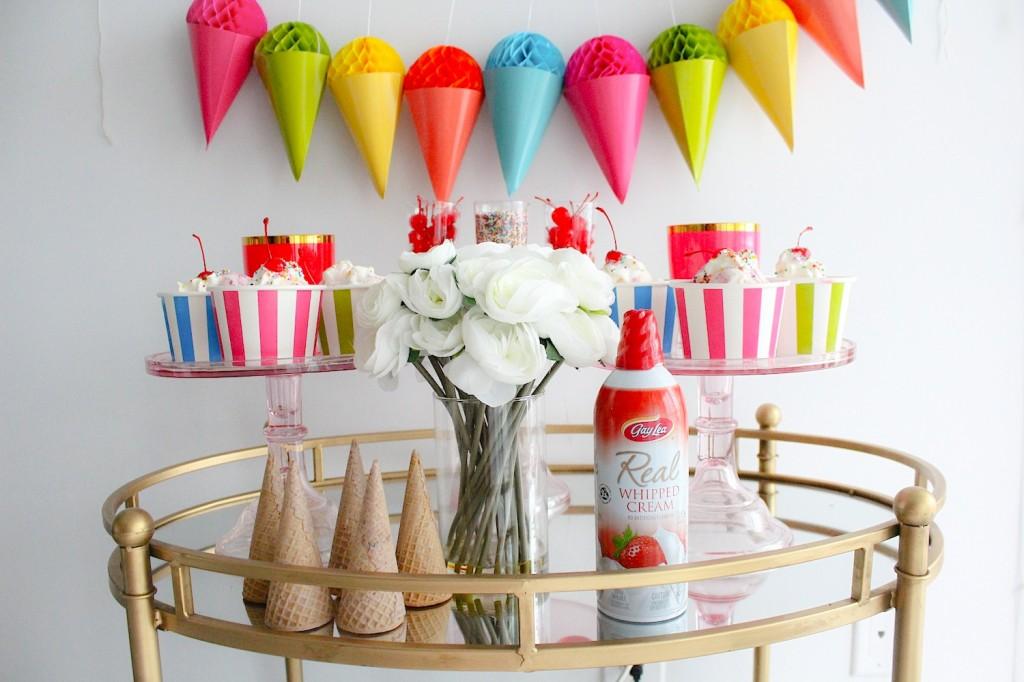 ice cream party decor 3