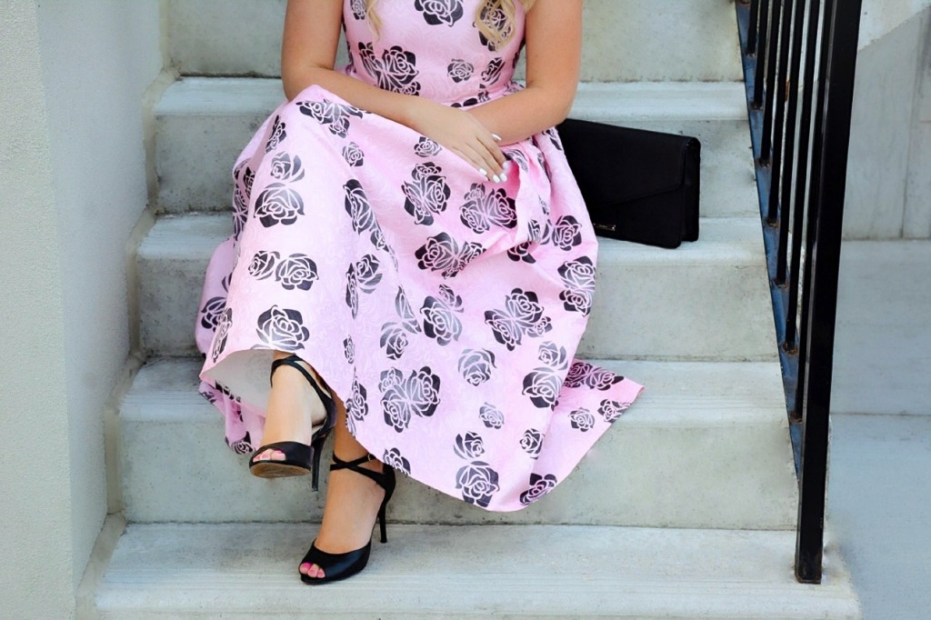 pink floral dress chicwish pink the town 13