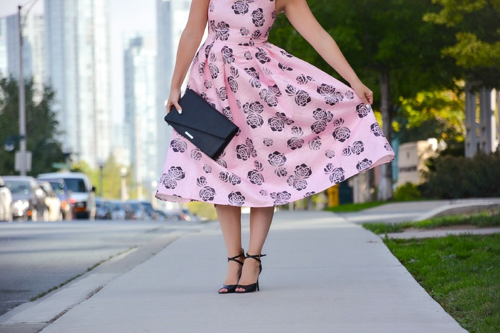 pink floral dress chicwish pink the town 14