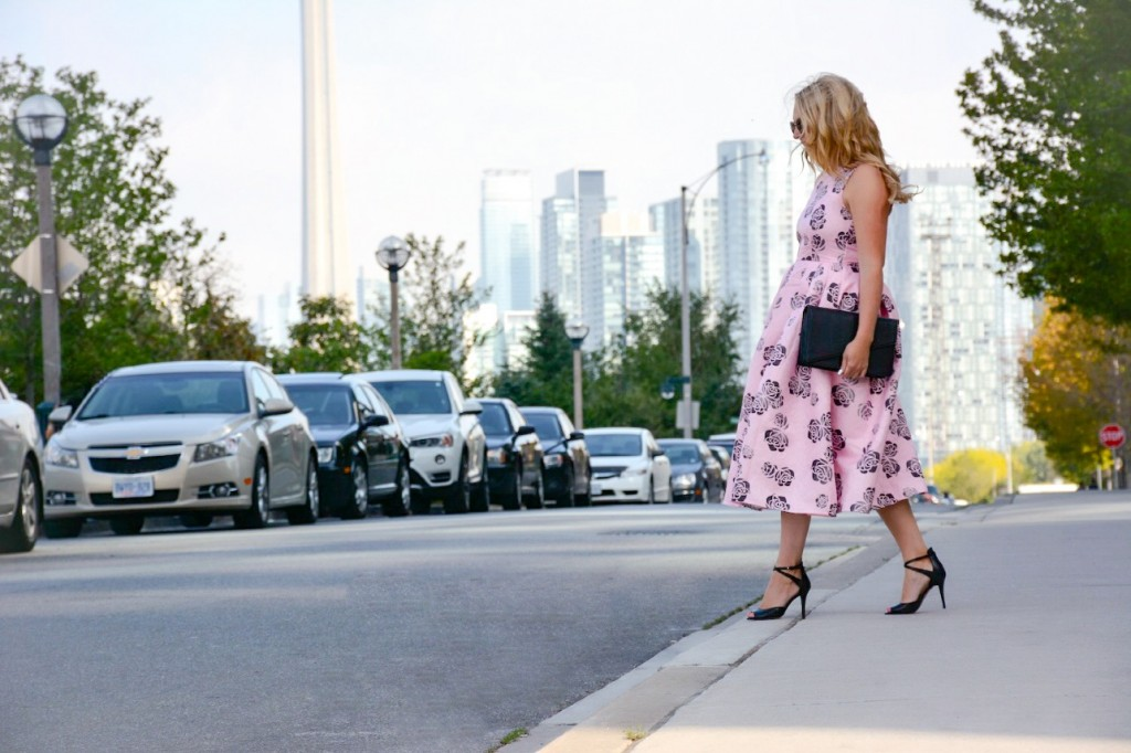 pink floral dress chicwish pink the town 2