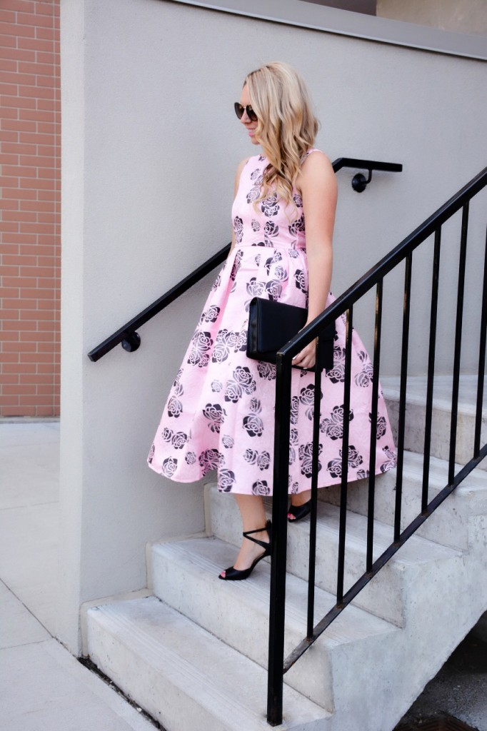 pink floral dress chicwish pink the town 4