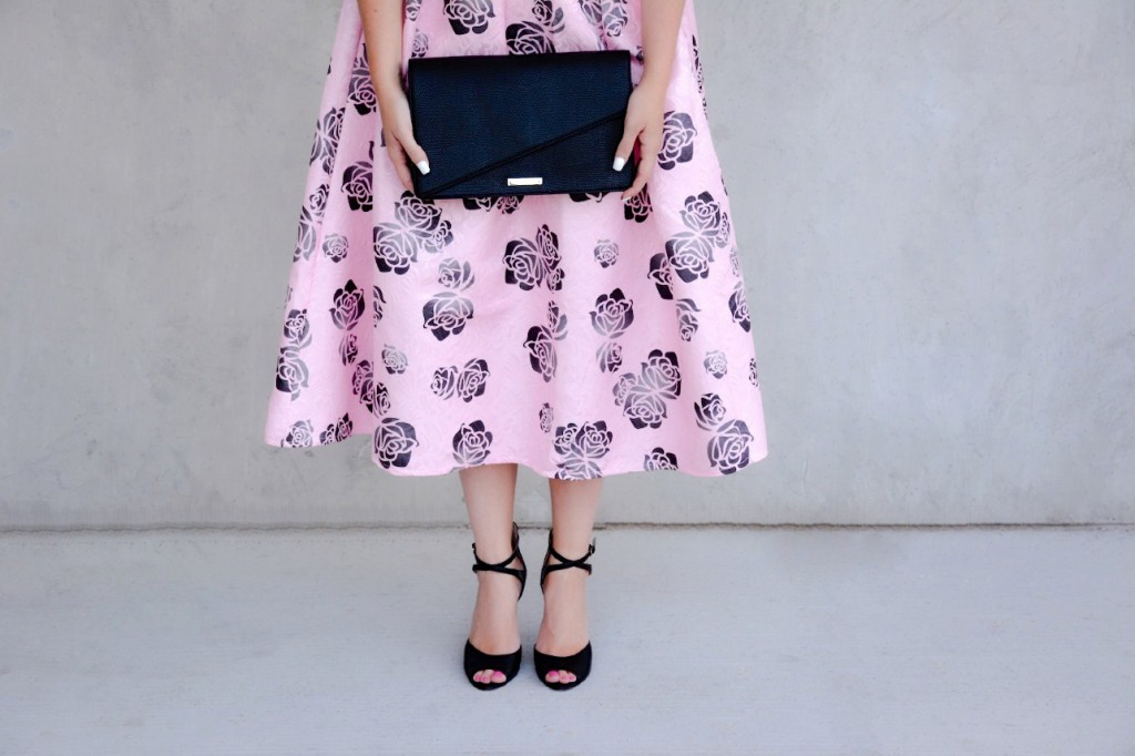 pink floral dress chicwish pink the town 6