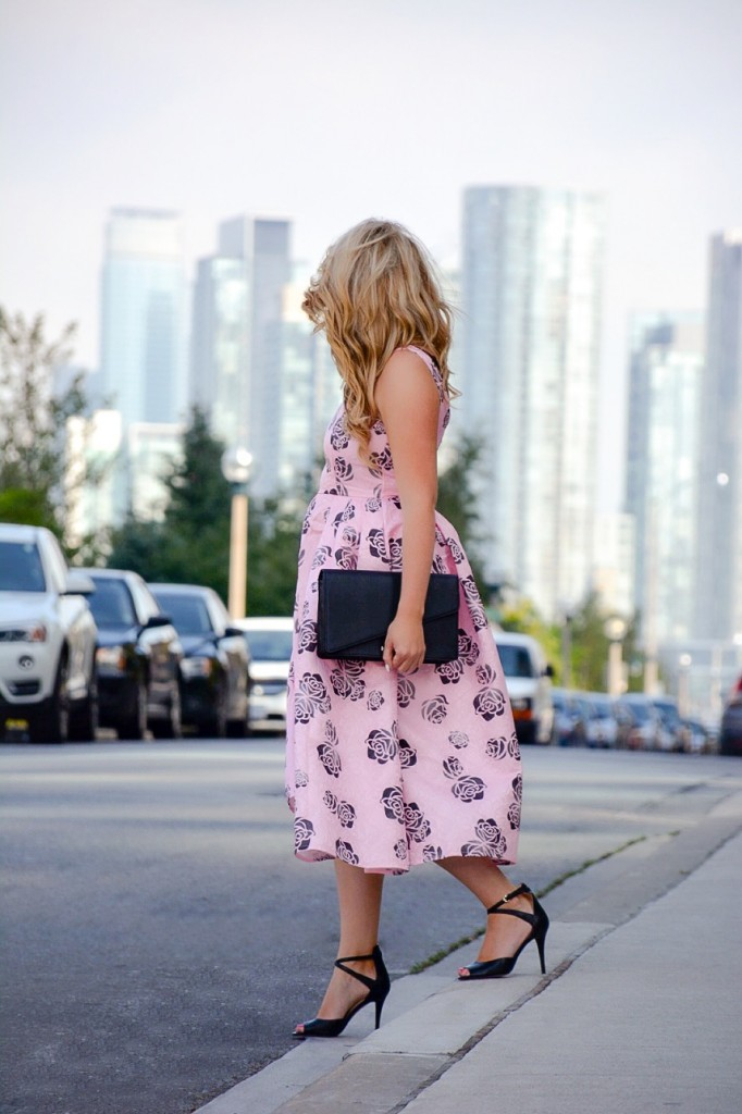 pink floral dress chicwish pink the town