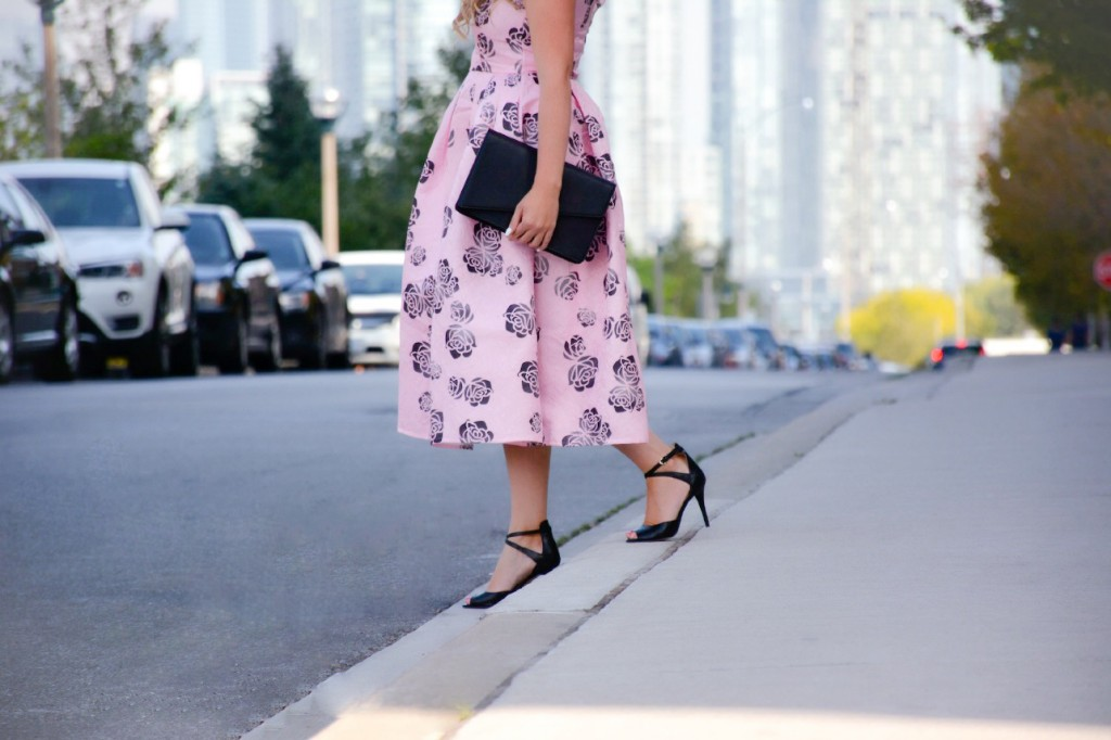 pink floral dress chicwish pink the town 7