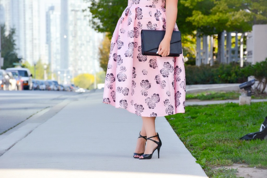 pink floral dress chicwish pink the town 8