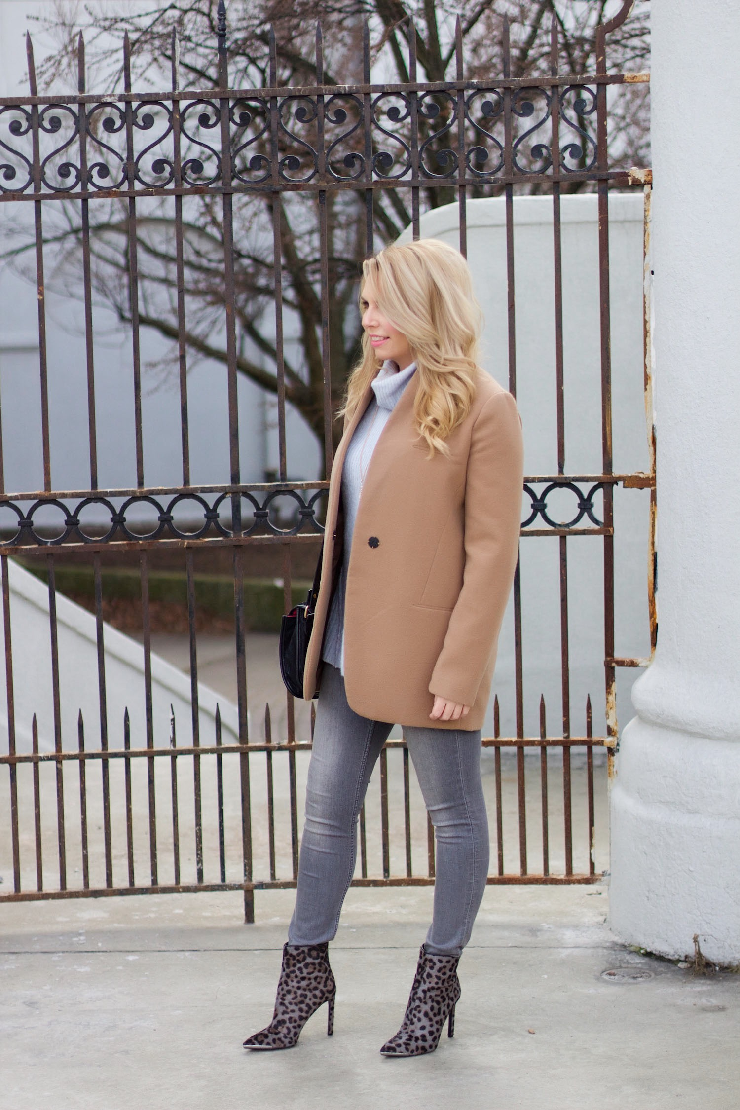camel coat pink the town 2