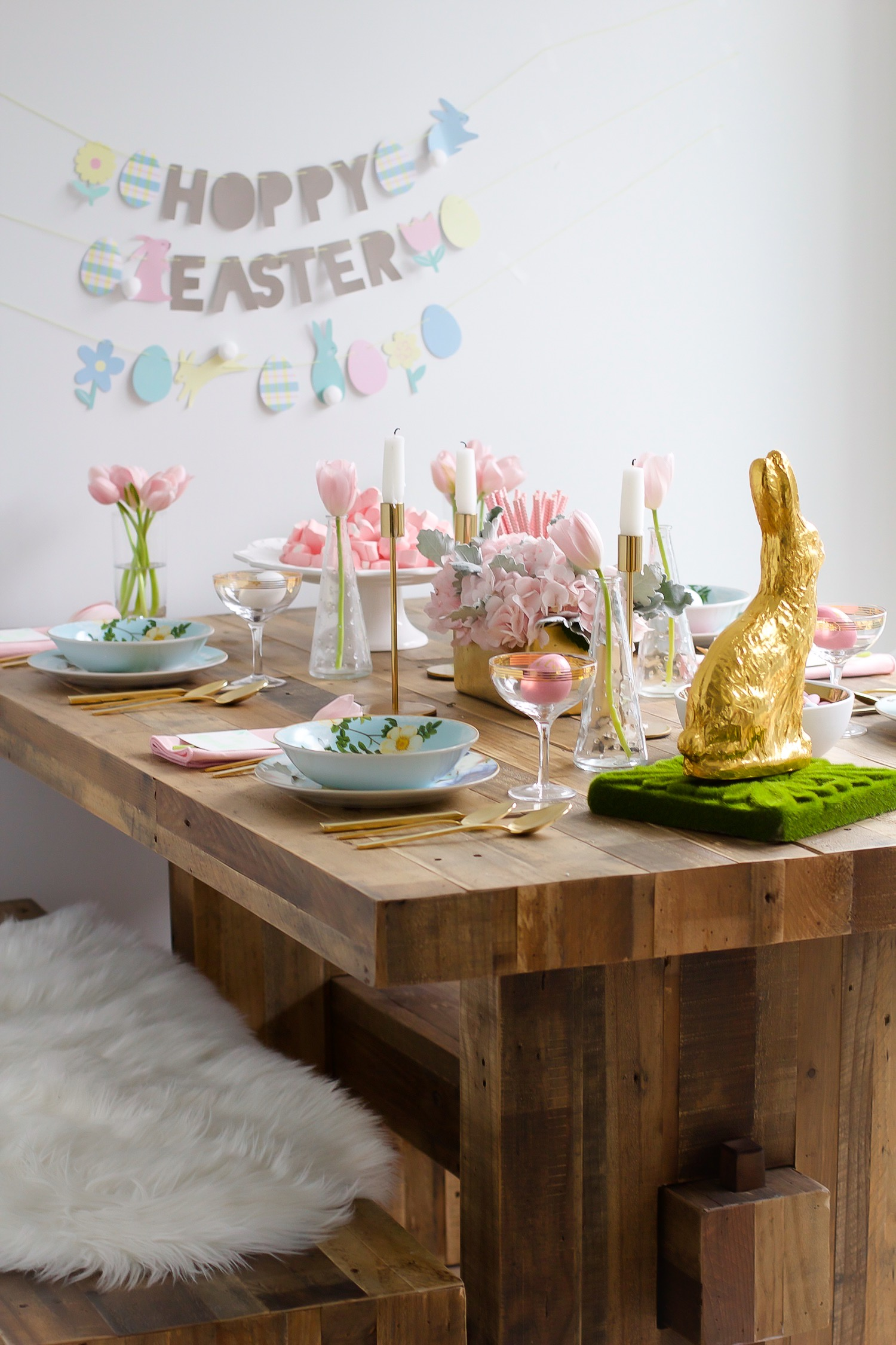 Easter Table Setting Pink The Town 10 2