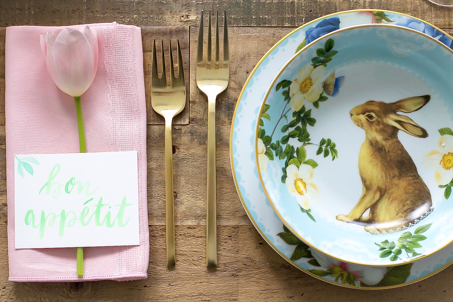 easter table setting pink the town 21