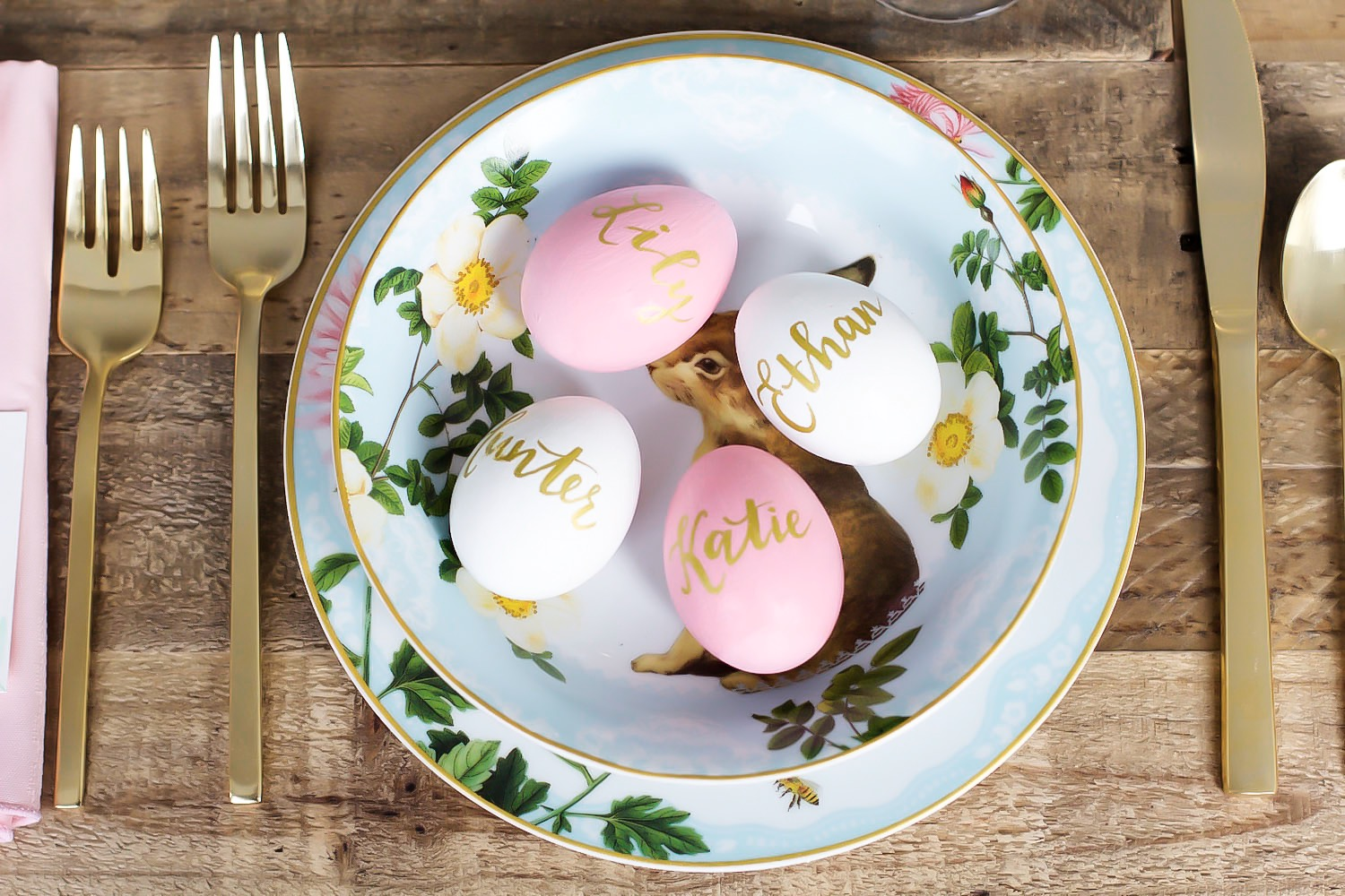 easter table setting pink the town 38